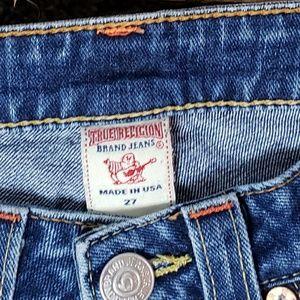 True religion Jean's size27 wide leg